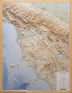 Toscana - carta in rilievo - cartografia dettagliata ed aggiornata - con cornice - edizione 2020