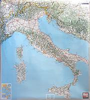 Carta Murale d'Italia - 100 x 112 cm - plastificata - cartografia Michelin chiara e dettagliata