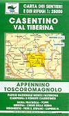 mappa n.35 Casentino, Val Tiberina con Parco Naz. Monte Falterona, Campigna, La Verna, Camaldoli, Bibbiena, Verghereto, Poppi