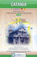 mappa Catania di città con Aci Trezza, Misterbianco 2018
