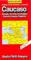 mappa Caucaso Georgia, Armenia, Azerbaigian, Cecenia, Ossezia, Dagestan