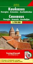 mappa Caucaso / Kaukasus con Armenia, Azerbaigian/Azerbaijan, Georgia, Cecenia, Dagestan, Inguscezia, Cabardino Balcaria, Ossezia del Nord, Karačaj Circassia 2022