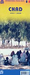 mappa Chad / Ciad con N'Djamena, Moundou, Bongor, Biltine, Kélo, Abéché, Sarh, Doba, Aozou, Ati, Faya Largeau, Mao, Mongo, Pala, Léré stradale distanze chilometriche, piste, parchi e riserve naturali