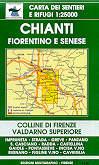 mappa n.42/43 Chianti Fiorentino e Senese, Valdarno, Pontassieve, Rignano, Figline, Incisa, Radda in Chianti, Castellina, Impruneta, S. Casciano