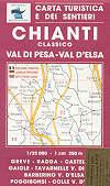 mappa topografica n.512 - Chianti, Val di Pesa, Val d' Elsa, Greve, Radda, Tavarnelle, Gaiole, Poggibonsi