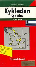 mappa stradale Cicladi - Cyclades