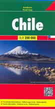 mappa Cile / Chile con Santiago de Chile, Concepción, Viña del Mar, Antofagasta, Valparaíso, Temuco, Talcahuano, Rancagua, Talca, Arica, Chillán, Iquique, Puerto Montt, Coquimbo 2015