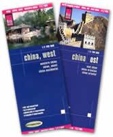 mappa Cina ed con Beijing, Taiwan, Corea del e 2 Mappe Plastificate
