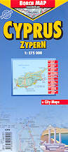 mappa stradale Cipro / Cyprus / Zypern  plastificata