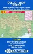 mappa n.054 Collio, Gorizia, Brda con reticolo UTM per GPS WGS 84