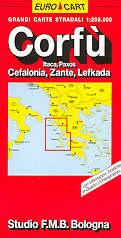mappa Corfù, Itaca, Paxos, Cefalonia, Zante, Lefkada