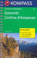 guida n.993 Cortina d'Ampezzo (Dolomiti) con sentieri panoramici, mappe, informazioni pratiche, profili altimetrici