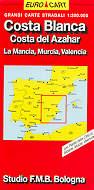 mappa Costa Blanca , del Azahar, La Mancia, Murcia, Valencia