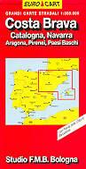 mappa Costa Brava, Catalogna, Navarra, Aragona, Pirenei, Paesi Baschi