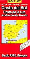mappa Costa del Sol, de la Luz, Andalusia, Murcia, Granada