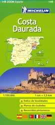 mappa stradale n.148 - Costa Daurada - con Lerida, Tarragona