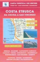 mappa N.539 Costa Etrusca Cecina, San Vincenzo, Marina di Bibbona, Castagneto, Donoratico, Castagneto Carducci, Bolgheri, Montescudaio, Guardistallo, Sassetta