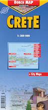 mappa stradale Creta  / Krìti  / Kreta / Crete plastificata