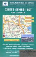 mappa n.518 Crete Senesi con Sinalunga, Monte S. Savino, Giovanni d'Asso, Asciano, Buonconvento, Rapolano Terme, Trequanda