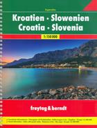 atlante Croazia, Slovenia atlante stradale a spirale con percorsi panoramici, campeggi, parchi e riserve naturali 2017