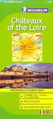 mappa stradale n.116 - dintorni di Tours e Valle della Loira (con Le Mans e Orleans)