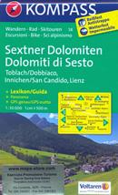 mappa n.58 Dolomiti di Sesto / Sexter Dolomiten, Dobbiaco Toblach, San Candido Innichen, Lienz, Sillian, S. Maddalena, Villgrater Berge, Gr. Sandspitze, Misurina, Tre Cime Lavaredo, Auronzo Cadore, Sappada, Alpi Carniche, Obertilliach plastificata, compatibile con GPS + panoramica
