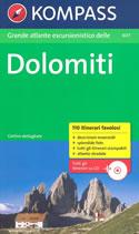 guida n.607 Dolomiti Grande Atlante Escursionistico con itinerari, mappe, descrizioni dettagliate + CD ROM itinerari stampabili