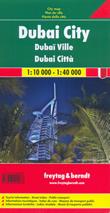 mappa Dubai città con l'indice strade e linee dei trasporti