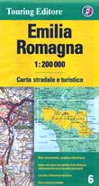 mappa Emilia Romagna stradale con distanze stradali, percorsi panoramici