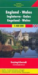 mappa England, Wales / Inghilterra, Galles, Cornovaglia con London/Londra, Birmingham, Liverpool, Newcastle, Swansea, Plymouth, Dublino (Irlanda) 2014