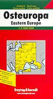 mappa stradale Europa Orientale / Eastern Europe / Osteuropa