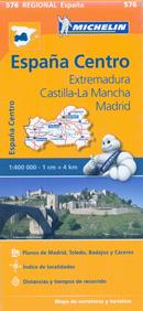 mappa n.576 Extremadura, Castilla La Mancha, Madrid Spagna con Merida e Toledo