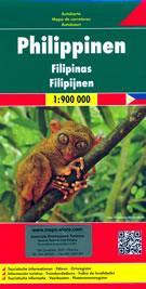mappa Filippine / Philippines con Quezon City, Manila, Caloocan, Davao, Cebu, Zamboanga, Antipolo, Pasig, Taguig, Valenzuela