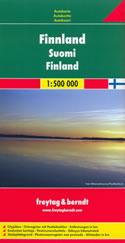 mappa stradale Finlandia - con Helsinki, Espoo, Tampere, Vantaa, Turku, Oulu, Jyväskylä, Lahti, Kuopio, Kouvola, Pori, Joensuu, Lappeenranta, Hämeenlinna, Rovaniemi, Vaasa, Seinäjoki, Salo, Kotka, Mikkeli - edizione 2013