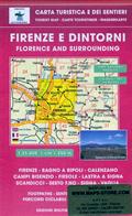 mappa n.510 Firenze e con Bagno a Ripoli, Fiesole, Monte Morello, Montesenario, Vaglia, Borgo San Lorenzo, Monti Calvana, Lastra Signa, Scandicci, Calenzano, Campi Bisenzio, Sesto Fiorentino