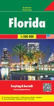 mappa Florida con Miami, Tampa, Key West, Orlando, Pensacola 2016