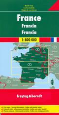 mappa Francia con Paris/Parigi, Reims, Nancy, Lille, Le Havre, Caen, Rennes, Brest, Nantes, Orléans, Dijon, Lyon, Limoges, Bordeaux, Grenoble, Avignon, Toulouse, Marseille, Biarritz, Corsica 2017