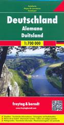 mappa stradale Germania - edizione 2017