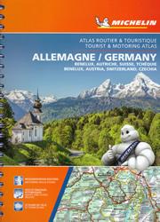 atlante Germania, Belgio, Olanda, Lussemburgo, Austria, Svizzera, Repubblica Ceca Atlante Stradale Michelin rilegato a spirale con mappe di città