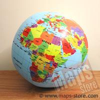 globo Globo Gonfiabile Gigante diametro 50 cm politico aggiornato per bambini, con i continenti, le nazioni e capitali del mondo 2014