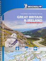atlante n.3122 Gran Bretagna, Irlanda atlante stradale a spirale con percorsi panoramici e 52 mappe di città 2014