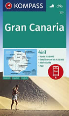 mappa topografica Gran Canaria (Isole Canarie) - mappa escursionistica - con sentieri, spiagge, percorsi panoramici - compatibile con sistemi GPS - edizione 2021