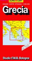mappa stradale Grecia - con Costa Ionica ed Egea, Atene, Salonicco, Milos, Mikonos