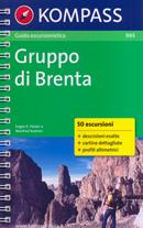 guida n.965 Gruppo di Brenta (Dolomiti) con sentieri panoramici, mappe, informazioni pratiche, profili altimetrici