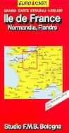 mappa Ile de France, Normandia, Fiandre