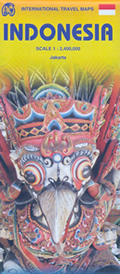 mappa stradale Indonesia - con Jakarta, Sulawesi, Buru, Halmahera, Tukang Besi, Sumba, Alor, Timor, Sumbawa, Leti, Daya, Tanimbar, Kai, Aru, Bomberai, Doberai, Seram, Kalimantan / Borneo, Malay, Sumatra, Mentawai, Java, Bali, Lombok, Sumbawa - nuova edizione