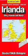mappa stradale Irlanda: Eire, Irlanda del Nord