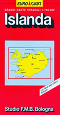 mappa Islanda con Reykjavik, Kalfafell, Akureyri, Selfoss, Hafnarfjörður, Kópavogur, Keflavík, Akranes, Húsavík, Egilsstaðir, Vestmannaeyjar 2014