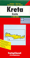 mappa stradale Isola di Creta / Kreta