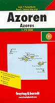 mappa stradale Isole Azzorre